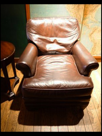 Houston Club auction, January 2013, Pair of leather club chairs