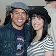 Daniel Ortiz and Kahlia Castellanos at M Penner Magritte party