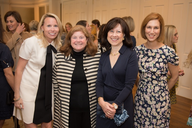 4 Cathy Trask, from left, Amy Le, Sarah Pesikoff and Carolyn Dorros at the Children's Museum Friends Families Luncheon March 2015