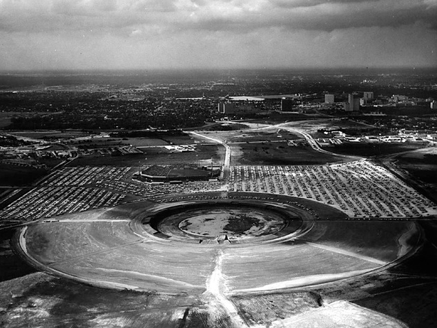Astrodome hole before construction