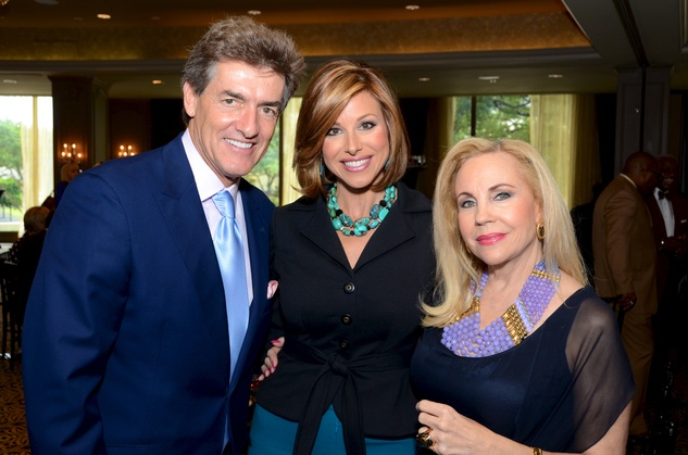11 Nick Florescu, from left, Dominique Sachse and Carolyn Farb at the inaugural Blue Cure luncheon and lecture