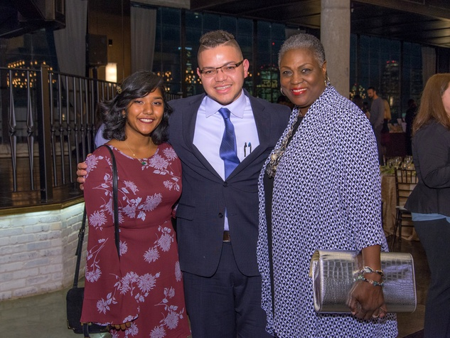 Houston, Writers in the Schools gala, Dec 2016, Fareena Arefeen, Andrew White, Dr. Rhea Brown Lawson
