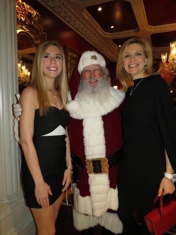 Sarah Kline with Santa Claus and Elizabeth Hunter, dsol debs holiday party