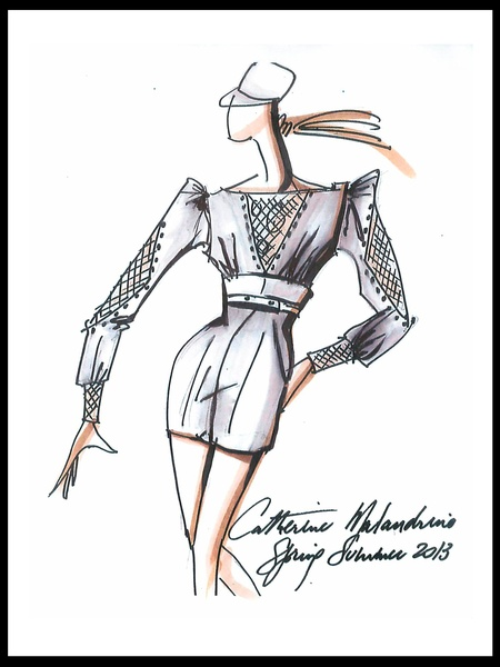 Clifford, Fashion Week, sketches, September 2012, Catherine Malandrino