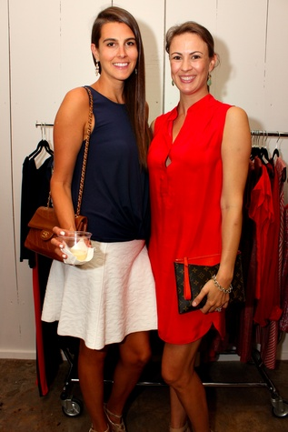 9 Kathryn Hamilton, left, and Elena Peden at the Dress for Dinner kickoff in new David Peck Showroom September 2014