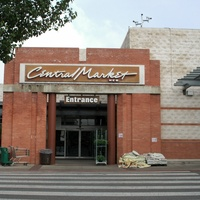 Central Market store front on North Lamar in Austin, Texas.