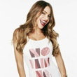 Sofia Vergara wearing a T-shirt designed for Dallas' Birthday Party Project