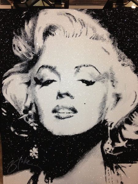 The Revolving Vault, Marilyn Monroe Glitter by Blake Ballard, September 2012