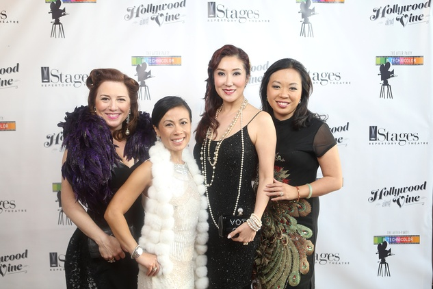 Donae Chramosta, Chau Nguyen, Mandy Kao, Miya Shay at the Stages Repertory Theatre Gala April 2015