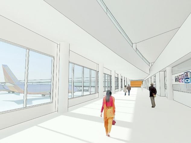Hobby Airport Southwest Airlines new international hub rendering airside corridor