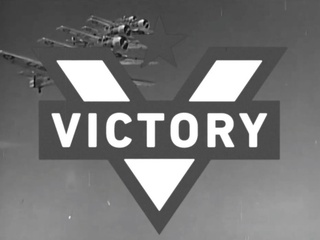 Alamo Drafthouse Victory logo in vintage newsreel