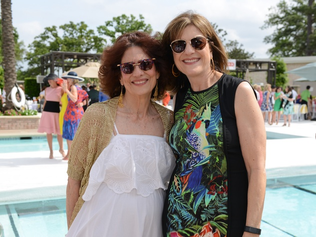 9 Donna Vallone, left, and Ellie Francisco at the River Oaks Tennis Tournament luncheon April 2015