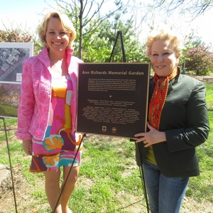 Bette Midler And Liz Smith Dedicate Ann Richards Garden In