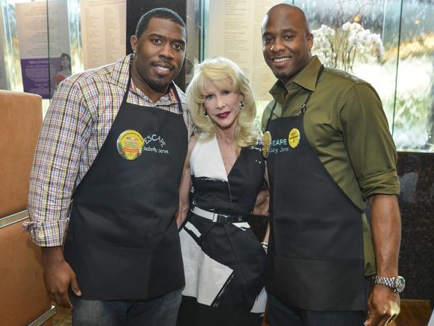10 ESCAPE Celebrity Waiter Dinner April 2013 Chris Taylor, Diane Lokey Farb, Devard Darling