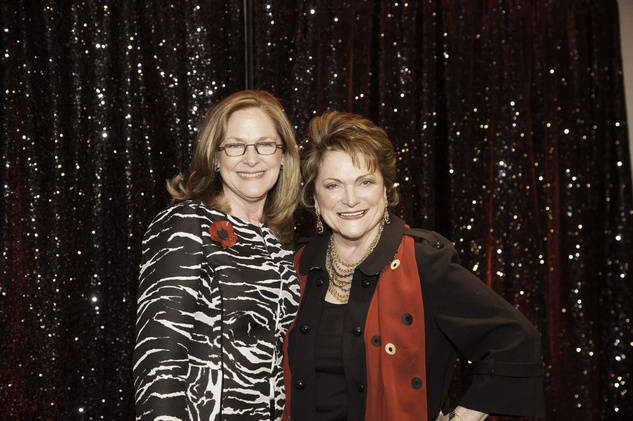 Marie Caplan, left, and Beth Wolff at the Go Red For Women luncheon May 2014