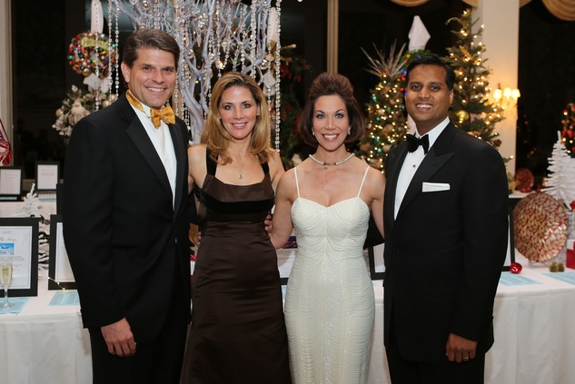 1 Stephen and Allison Lewis, from left, Roseann Rogers and Dr. Aasish Shah at the Trees of Hope Gala November 2013