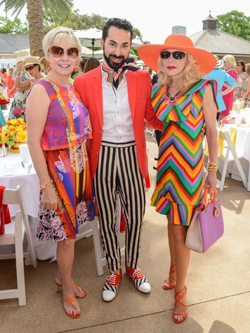 16 Karen Mayell, from left, Fady Armanious and Diane Lokey Farb at the River Oaks Tennis Tournament luncheon April 2015