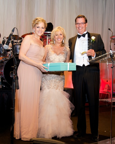 19 8388 Michelle Shifflett, from left, with Sherry and Richard Lane at the American Heart Association's Montgomery County Heart Ball February 2015