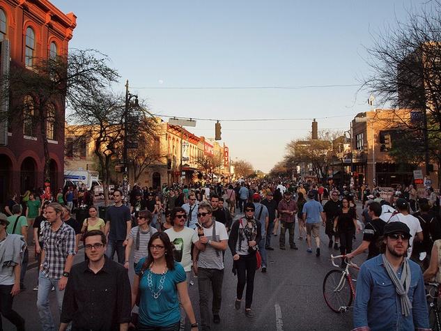 SXSW Dirty Sixth Street crowd