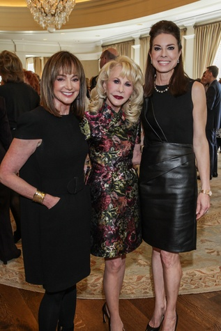Janet Gurwitch, from left, Diane Lokey Farb and Karen Payne at the Huffington Center on Aging luncheon October 2014