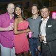 Carl Meyocks, Lupe Molina, Rick Carrier, Nick Abrego at Party in Pink at Hotel ZaZa July 2013