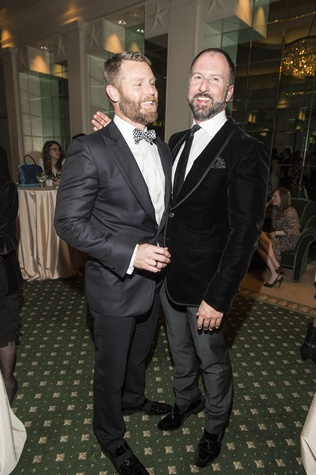 Kevin Black, left, and Tony Bradfield at the Houston Ballet Jubilee of Dance Onstage Dinner December 2014