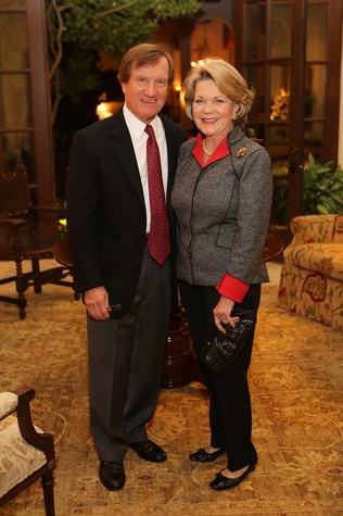 David and Pam Ott at St. Luke's holiday party December 2014
