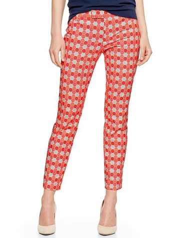 the gap slim cropped print pants in geometric
