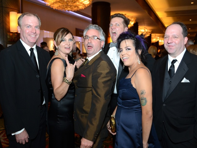 Steve Flippo, from left, Dawn Callaway, Brad Moore, Scott Repass, Miriam Carrillo and Scott Walcott at the Rice Design Alliance Gala November 2013