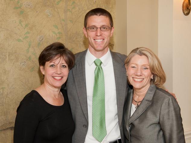 Family Services luncheon, March 2013, Kelly Lutz, Matt Garcia-Prats, Cathy Garcia-Prats