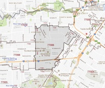 77006 Houston Montrose ZIP code map