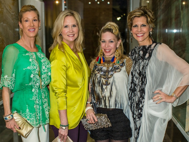 8.Phyllis Comu, Janet Fresquez, Shona Gilbert, Dawn Mellon, light the runway kickoff event