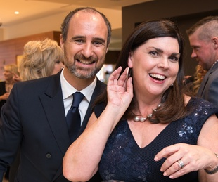 Mattia Cielo and Lesha Elsenbrook at IW Marks Jewelers