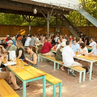 D&T Drive Inn patio with crowd