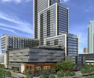 Northshore Austin tower building downtown Second Street District rendering