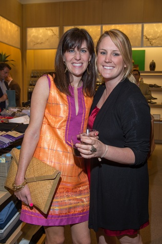 M Penner Magazine launch party April 2013 Lauren Mills and Maddie Solari
