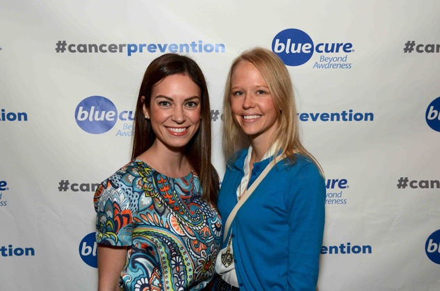 Alba Metushi, left, and Katie Ferleman at Blue Cure Young Professionals February 2014