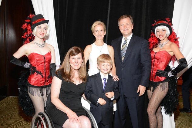 Co chairs - (back) Kathleen and Pat Wood Front Row - Jennifer Hiser - Texas Children's Hospital and William Wood (Kidney transplant recipient) at Nora's Home Gala May 2014
