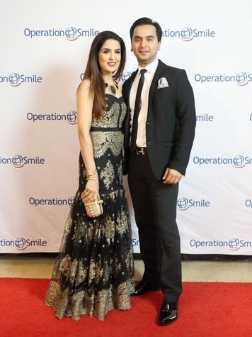 Operation Smile Gala 2015 Sneha and Nick Merchant