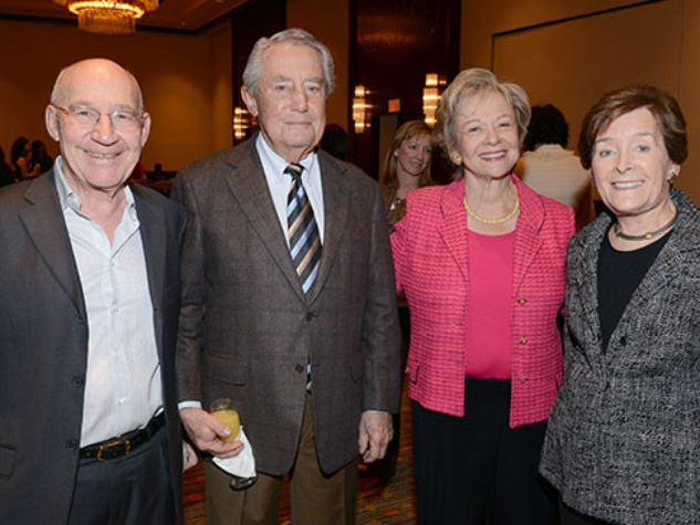 Louis Navias, Ron Mankoff, Ann Levine and Joy Mankoff, woman to woman luncheon