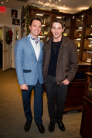 50 Cody Soutar, left, and Jonathan Blake at the Valobra Pin Oak holiday party December 2014