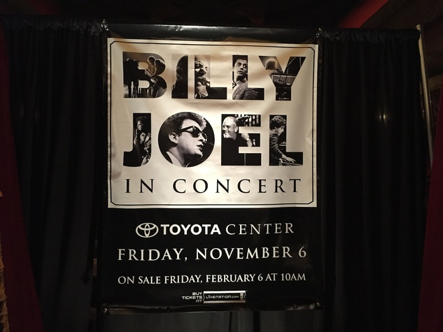 Billy Joel Toyota Center concert banner