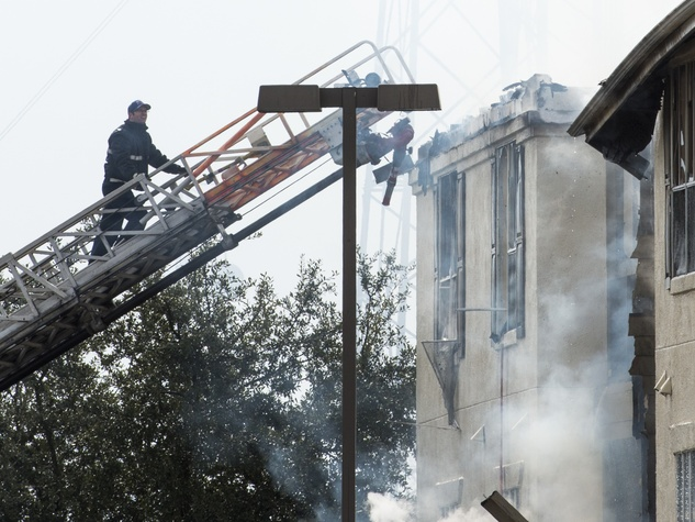 Remington Park Apartments fire January 2014