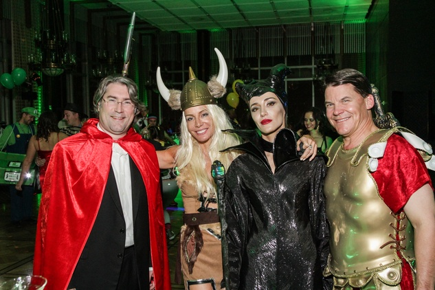 27 Preston Marshall, from left, Marianna Prueger, Natalya Read and Steve Kennedy at The Patroleum Club Halloween party November 2014