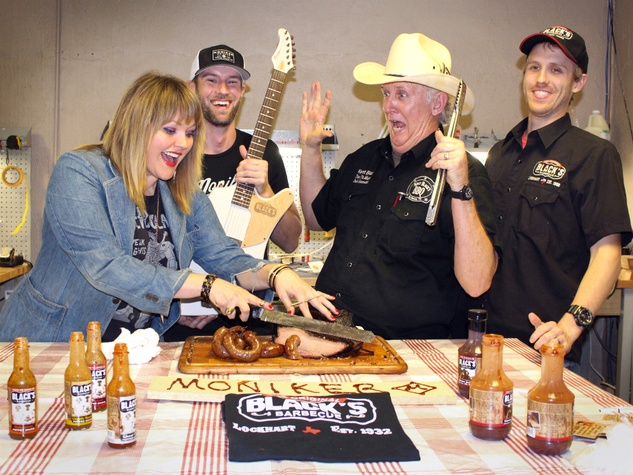 Moniker Guitars Texas BBQ Party December 2014 - Black's Barbecue - Kevin Tully