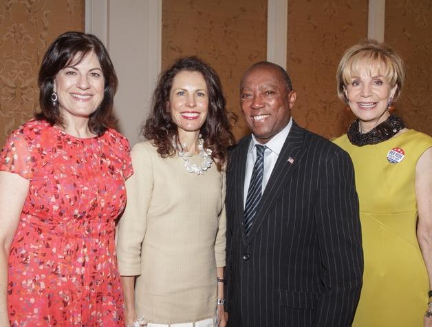Mayor's Literacy breakfast 5/16 Ellie Francisco, Gina Luna, Mayor Sylvester Turner, Leisa Holland Nelson