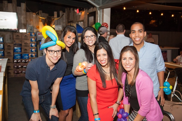 2536 Michael Martinez, from left, Anna Lyssa Cuevas, Sofia Gonzalez, Jessica Gonzalez, Ali Henderson and Ryan Mullings at the Friends of DePelchin Fall Carnival at Jackson's Watering Hole