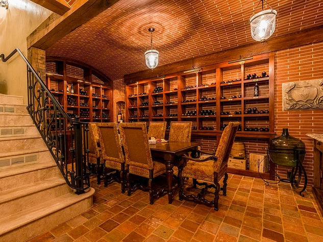 Mandola's estate in Austin wine cellar