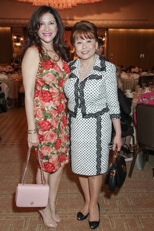 5 0348 Alex Blair, left, and name at the Women's Home tea April 2015