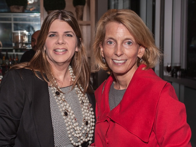5 Denise Cassata, left, and Polly Anne Whittle at the Bruce Munro VIP reception at Discovery Green November 2014